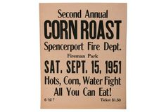 Corn Roast Sign
