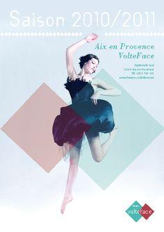 Affiche pour le theatre volteface sur le sujet de la danse exculsivement