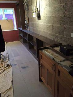 part-built cabinets