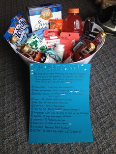 21st Gift Basket (Oh Shit Kit). I made this for my best friend on her 21st. It was super fun and easy to make. She absolutely loved it!