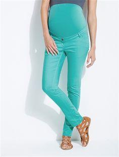 Pantalón slim color entrep. 85 cm de embarazo NEGRO OSCURO LISO+ROSA MEDIO LISO+VERDE MEDIO LISO