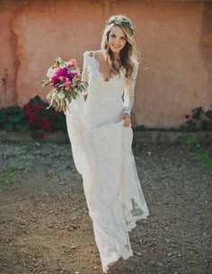 Honest A-Line Long Sleeve Lace Backless Wedding Dresses, - Wedding Gowns Platform Bridal Gowns, Wedding Gowns, Wedding Ceremony, Ceremony Dresses, Wedding Bouquets, Wedding Venues, Perfect Wedding, Dream Wedding, Luxury Wedding