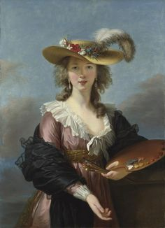 Élisabeth Louise Vigée-Le Brun, Self Portrait in a Straw Hat, after 1782, The National Gallery, London