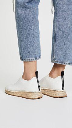 sports shoes 9e557 e18fc Footwear · Alexander Wang Dylan Low Knit Espadrille Runners Jute, Knitted  Fabric, Socks, Knitting,