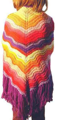 Feather and fan knit shawl - free pattern - same as the feather and fan used for the feather and fan wrap featured in NORO yarn.