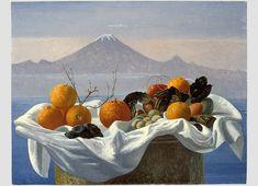 Giovanni Colacicchi Paintings | Giovanni Colacicchi 1900 - 1992 , frutta devanti al vulcano