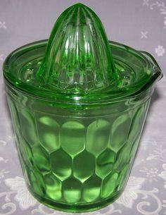 Green Jeannette Glass Co. Ice Bucket juicer
