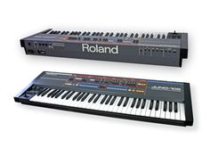 The is a very common and widely used analog polysynth. It continues to be one of the most popular analog synths due to its great Vintage Synth, Vintage Keys, Electronic Music Instruments, Musical Instruments, Roland Juno, Recording Equipment, Drum Machine, Studios, Medical