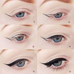 Diy Beauty Hacks, Beauty Hacks For Teens, Beauty Tricks, Beauty Ideas, Beauty Advice, Beauty Tutorials, Beauty Secrets, Perfect Cat Eye, Perfect Eyeliner