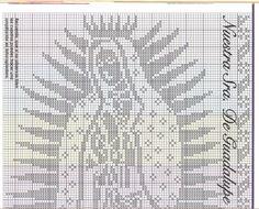 Esquema de la Virgen de Guadalupe en punto de cruz - Imagui