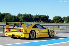 Yellow Ferrari F40