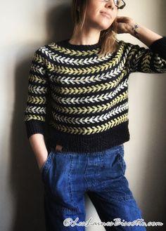 Ravelry: Seascape pattern by Andrea Yetman Sweater Knitting Patterns, Knitting Designs, Knit Sweaters, Knitting Ideas, Cardigans, Jaquard Tricot, Pull Court, Fair Isle Knitting, Stockinette