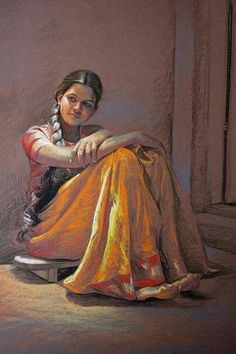 61 Trendy Ideas For Drawing Poses Girl Artists Art Painting Gallery, Sketch Painting, Figure Painting, Figure Drawing, Indian Artwork, Indian Art Paintings, Oil Paintings, Art Indien, Indian Women Painting