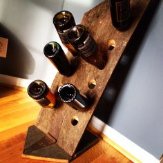Tennessee barn wood wine rack made by my brother!