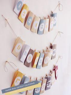 12 ADVENT CALENDARS – Paper Bag Advent Calendar