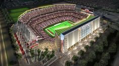 The stadium will be the new home of the San Francisco 49ers and is planned for completion in time for the 2014 National Football League (NFL) season