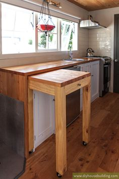 pull out butchers block