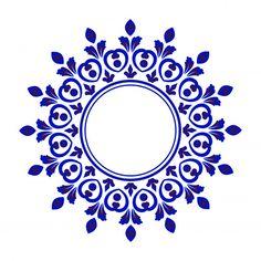 blue ornamental round, Porcelain decorative art frame, Abstract vector floral or. Stencil Patterns, Pattern Art, Vector Pattern, Flower Mandala, Mandala Art, Islamic Art Pattern, Blue Pottery, Vector Flowers, Flower Patterns
