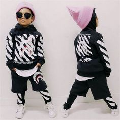 28.00$  Buy here - http://alivlw.shopchina.info/go.php?t=32800835823 - 2017 Spring boys/girls clothes hip-hop teenage clothes sets cost+harem pants 2pcs kids clothing sets children's sports suits 28.00$ #aliexpress