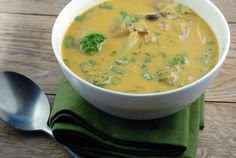 Thai Vegetable Soup from Elana's Pantry. Vegetarian, Paleo friendly soup that sounds great for winter nights. Thai Vegetable Soup, Vegetable Soup Recipes, Veggie Soup, Thai Soup, Dairy Free Recipes, Paleo Recipes, Real Food Recipes, Cooking Recipes, Yummy Food