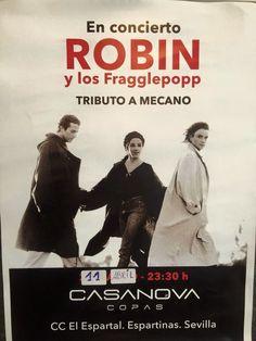 Tributo a Mecano en Casanova Copas No olvides que este Sábado, 11 de abril, a partir de las 23:30, tenemos un fantástico tributo a Mecano de la mano de Robin Torres y los Fragglepop Sevilla. ¡No te lo pierdas! _______________________ CASANOVA COPAS FACEBOOK: https://www.facebook.com/casanovacopasespartinas C.C. El Espartal, Espartinas, Sevilla FICHA portalespartinas.com: http://elportaldeespartinas.blogspot.com.es/p/casanova-copas-c.html FICHA portaljarafe.es…