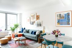 Becky and Justin, recent empty-nesters, took a turn for the unexpected and purchased a pied-à-terre in Manhattan when their two kids went away for college. Homepolish's Matthew Cane helped turn their white box of a 1-bedroom into an artful, eclectic reflection of their lifestyle.