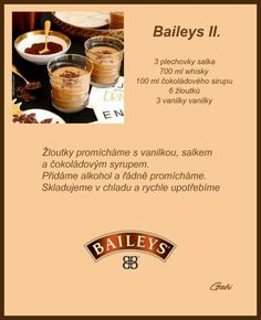 Baileys II. Look Body, Baileys, Healthy Drinks, Whisky, Smoothie, Sushi, Food And Drink, Tableware, Recipes