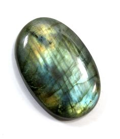 Oval Labradorite Cabochon. Oval Gold Flash Cabachon  Bead Weaving. Large Labradorite Stone Cabochon.  Blue Flash 28mm x 42mm  LDC011