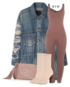 """""""Untitled #3125"""" by kimberlythestylist ❤ liked on Polyvore featuring R13, Gucci and Zina"""
