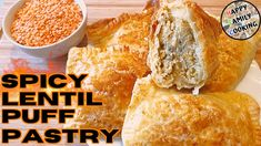 Spicy Lentil Puff Pastry | Easy Quick Recipe | Spicy Lentil Puff Pastie Lentil Recipes, Spicy Recipes, Curry Recipes, Dried Chillies, Legumes Recipe, Dal Recipe, Curry Spices, Daal, Lentil Curry