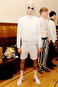 Benjamin Jarvis   Timo Weiland Menswear SS15 Backstage MBFW New York, ph. Ben Gabbe ❤️