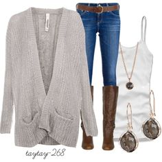 """stone grey"" by taytay-268 on Polyvore"