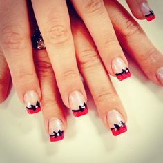 i would do it with white french tip