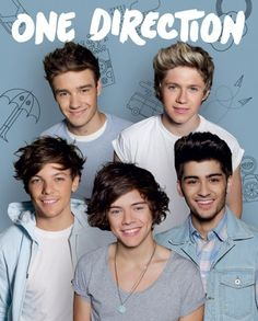One Direction - Group - Official Mini Poster. Official Merchandise. FREE SHIPPING