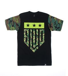 BLVD SUPPLY Graphic logo tee Short sleeves Crew neck with ribbed collar Brand logo detail Cotton for comfort Graphic on front Camouflage detail - that should be mine!
