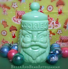 Jadeite Santa Cookie Jar