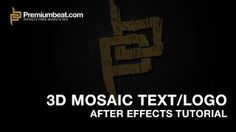 In this Premiumbeat.com After Effect tutorial we show you how to create a dynamic 3D mosaic effect - make your logos and text more engaging!  For more After
