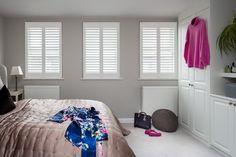 Southfields by Plantation Shutters Ltd Furniture Design, Modern Interior, Bathroom Remodel Master, Art Studio At Home, Bedroom Shutters, Interior Design, Home Decor, Home Styles, Interior Architecture