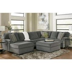 Loric 12700 Smoke grey Sectional Sofa living spaces ashley home store furniture san diego ca, irvine anaheim orange county, long beach los angeles california New Living Room, Home And Living, Living Room Decor, Dining Room, Simple Living, Coastal Living, Living Spaces, Sofa Furniture, Living Room Furniture