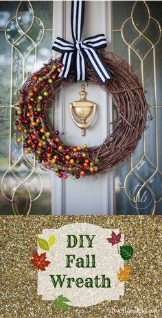 Easy DIY Fall Wreath | Dwell Beautiful
