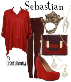 Little Mermaid-inspired outfit: Sebastian. (by Disneybound)