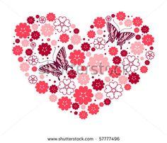 floral heart shape