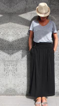 DIY - réalisez cette jupe longue fluide au look boho-chic ! Un tuto pas à pas en compagnie de Léa...