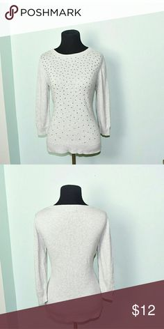 Super Cute Grey Studded Shirt In excellent condition! Very comfortable, lightweight, and flattering! Buy 3 items and get 1 free plus 15% off your purchase total Tops Blouses