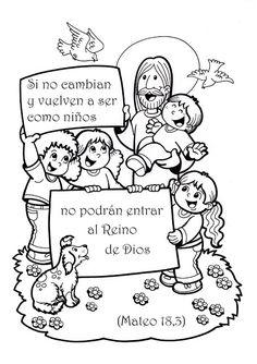 Para Colorear Jesús Con Los Niños Para Colorear Actividades