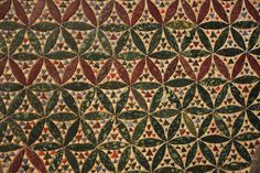 """Multicolor opaque glass """"Cosmati"""" pavement in the Westminster Abbey gothic church. London, England, 1268 AC."""