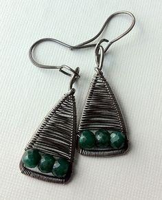 Emerald triangles | silver, emerald | Aniko Sandor | Flickr