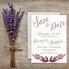 Fall/Autumn Save the Date Rustic Fall Winter by LittlePaperMama