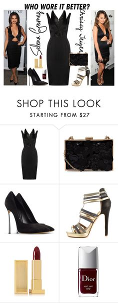 """Untitled #2630"" by fashion-nova ❤ liked on Polyvore featuring Cushnie Et Ochs, Casadei, Nicole Miller, Lipstick Queen and Christian Dior"