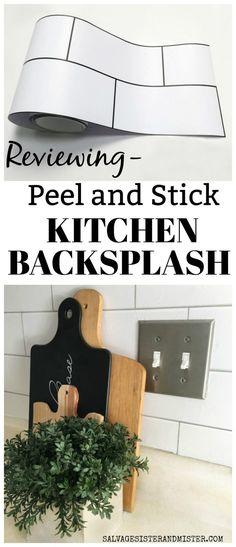 Reviewing Peel and Stick Kitchen Backsplash Kitchen Backsplash Peel And Stick, Backsplash Cheap, Diy Kitchen Remodel, Kitchen Remodeling, Remodeling Ideas, Basement Remodeling, Bedroom Remodeling, Basement Ideas, Ikea
